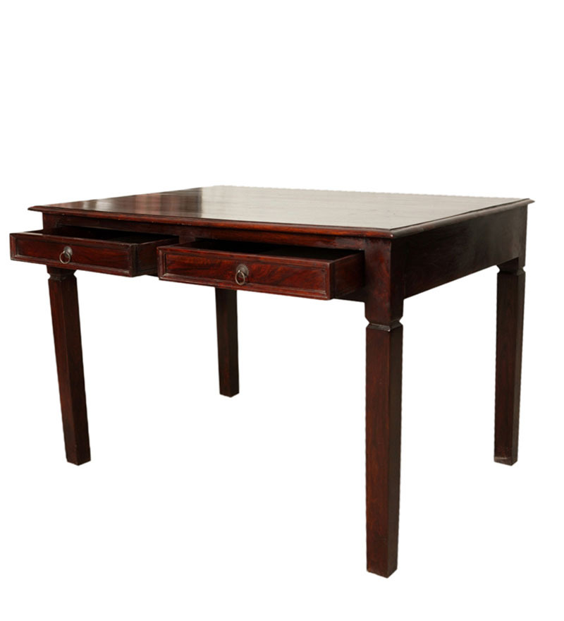Magdalen study laptop table in passion mahogany finish for Table passion