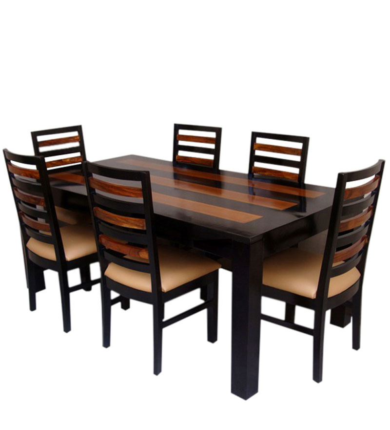 Mexico Solid Wood Six Seater Dining Table Set in Dual Tone  : saffron two tone six seater dining set saffron two tone six seater dining set f2kuux from www.pepperfry.com size 800 x 880 jpeg 74kB