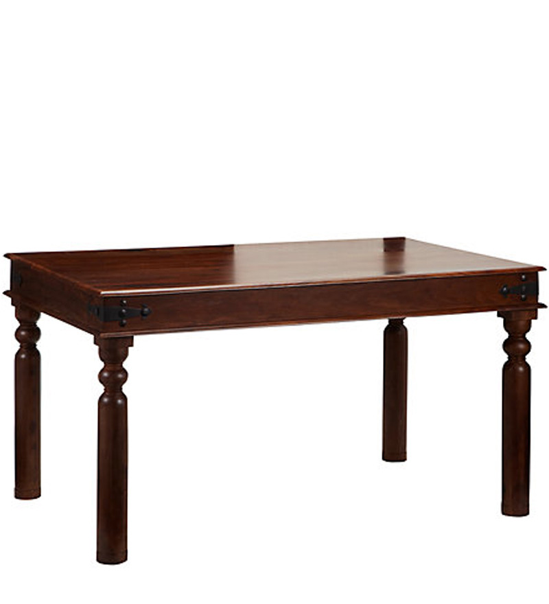Earl Six Seater Dining Table In Provincial Teak Finish By
