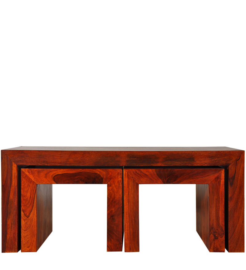 Santiago solid wood coffee table set in honey oak finish by woodsworth by woodsworth online Honey oak coffee table