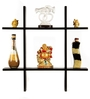Safal Quartz Black Wall Rack Engineered Wood Key Holder