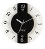 Safal Quartz White & Black 8 x 8 x 2 Inch Wall Clock