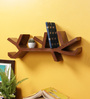 Crafts Land Dark Brown MDF Hand Painted Branch Shaped Wall Self