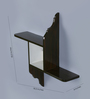 Crafts Land Black MDF Hand Painted Modern Art Wall Shelf