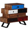 Abba Chest of Drawers in Multi-Colour Finish by Bohemiana