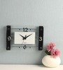 Safal Quartz Black & White  MDF Wall Clock