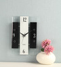 Safal Quartz Black & White MDF 7 x 10.75 Inch Rectangular Wall Clock