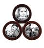Safal Quartz Black & Brown MDF 16 x 16 Inch Round Collage Photo Frame