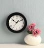 Safal Quartz Border Black MDF 8 x 8 x 2 Inch Wall Clock