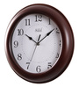 Safal Quartz Brown MDF 10 Inch Round Thick with Full Numerals Wall Clock
