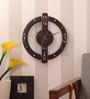 Safal Quartz Brown MDF 11.8 x 11.8 Inch Wall Clock