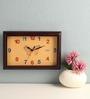 Safal Quartz Brown MDF 11.8 x 7.8 Inch Rectangular Shape Wall Clock