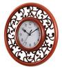 Safal Quartz Brown MDF 12 Inch Royal Fantasy Round in Round View Wall Clock