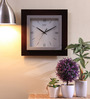 Safal Quartz Brown MDF 13.5 x 2 x 13.5 Inch Frame with Square Back Roman Figured Beauty Wall Clock