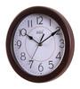 Safal Quartz Brown MDF 9 Inch Round Sleek Look Beauty Wall Clock