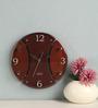 Safal Quartz Brown MDF 9 x 9 x 2 Inch Wall Clock