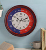 Safal Quartz Red MDF 14 x 14 Inch Past to Second Wall Clock