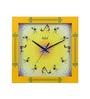 Safal Quartz Square Warli Yellow Clock MDF Wall Clock