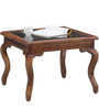 Bissoni Prime Glass Top Coffee Table in Provincial Teak Finish by Amberville