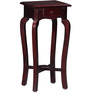 Lyde End Table with Curved Legs in Passion Mahogany Finish by Amberville