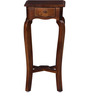 Lyde End Table with Curved Legs in Provincial Teak Finish by Amberville