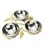 Sage Koncpt Silver Stainless Steel and Brass 200 ML Nest Nut Bowl - Set of 3