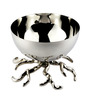 Sage Koncpt Silver Stainless Steel and Brass 200 ML Root Nut Bowl