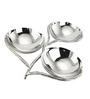 Sage Koncpt Silver Stainless Steel 200 ML Branch Nut Bowl - Set of 3