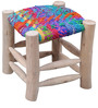 Sahara Multicolour Hand-Made Stool by The Rug Republic