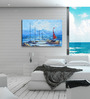 Hashtag Decor Sailing in the Ocean Engineered Wood 30 x 20 Inch Framed Art Panel