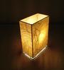 Salebrations Yellow Rectangular Fabric with Banana Fiber Table Lamp