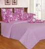 Salona Bichona Pink Double Bed Sheet Set