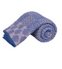 Salona Bichona Blue Cotton Abstract 98 x 86 Inch Double Quilt