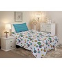 Salona Bichona Multicolour Cotton Single Bed Sheet Set (With Pillow Cover)