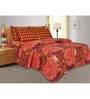 Salona Bichona Floral Double Bedsheet with two pillow covers