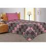 Salona Bichona Black & Pink Single Bedsheet with one pillow cover