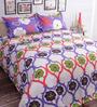 Salona Bichona White 100% Cotton Queen Size Bedsheet - Set of 3