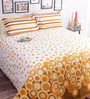 Salona Bichona White 100% Cotton Queen Size Bedsheet - Set of 3