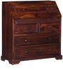 Ashbourne Study Table Cum Chest of Drawers in Honey Oak Finish by Amberville