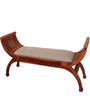 William Elongated Upholstered Bench IN Honey Oak Finish by Amberville
