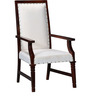 Salvador High Back Arm Chair in Honey Oak Finish by Amberville