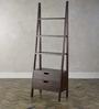 Tulsa Ladder Like Display Unit with Two Drawers in Espresso Walnut Finish by Woodsworth