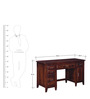 Everson Study & Laptop Table in Honey Oak Finish by Woodsworth