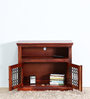 Salvaine Entertainment Unit in Honey Oak Finish by Amberville