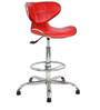 Sammy Bar Chair in Red by The Furniture Store