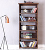 Barnes Foldable Book Shelf in Provincial Teak Finish by Woodsworth