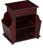 Amelia Luis End Table Cum Magazine Rack in Passion Mahogany Finish by Amberville