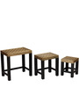 Kaivana Set Of Tables with Brass Repousse Work by Mudramark