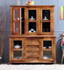 Camelford Hutch Cabinet in Provincial Teak Finish by Amberville