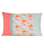 Sanaa Multicolour 100% Cotton 20 x 12 Inch Floral Printed Cushion Cover